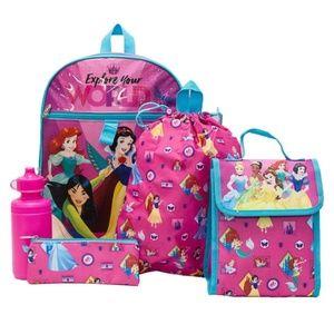 Disney princess 5pc. backpack set